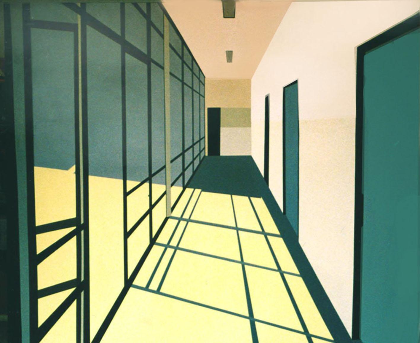[Carina+Traberg,+Corridor+with+Window,+acrylic+on+canvas,+120x100cm,+2002]