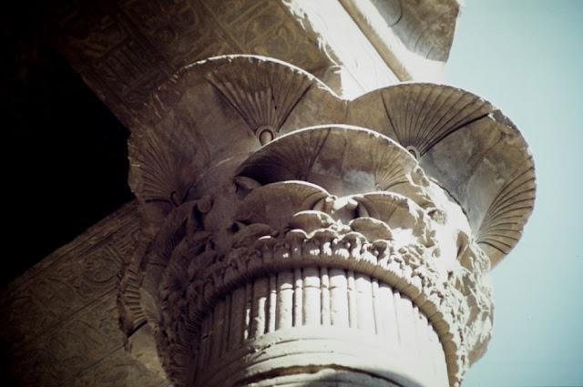 Capitel del templo de Edfu