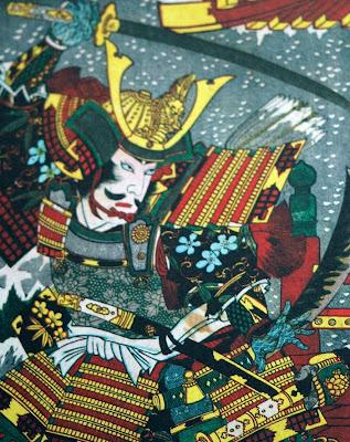 Samurai. Grabado ukiyo-e