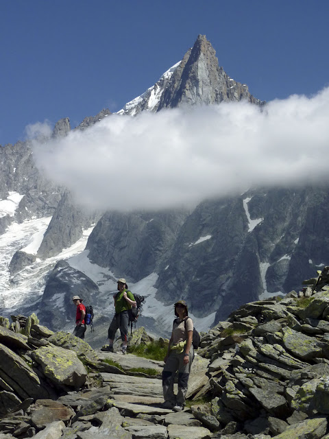 Recorriendo el camino Henri Vallot en Chamonix