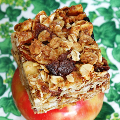 Jules food bacon banana peanut granola bar for Alton brown oat cuisine