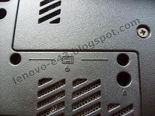 Дренажные отверстия для слива жидкости, попавшей на клавиатуру Lenovo E43
