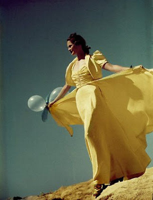Vogue 1938 Yellow dress