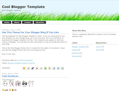 Free Blogger Template 1