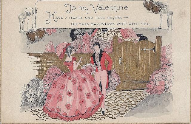 vintage antique valentine postcard free
