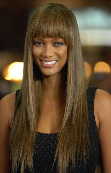 Tyra Banks Hairstyles With Bangs