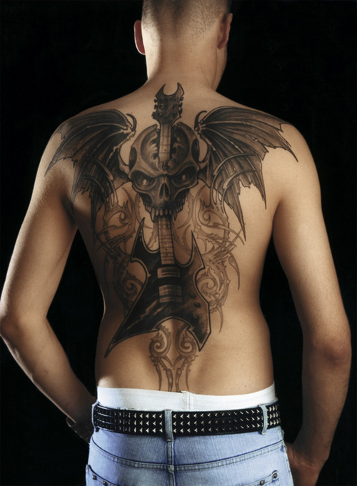 New Custom Back Mens Tattoos