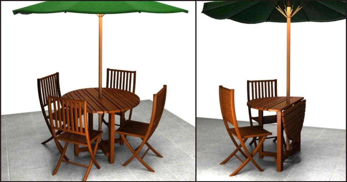 Grupo impronta dise o mesa plegable para exterior for Diseno de mesa plegable