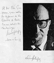 Dedicatoria de León Felipe al Dr. Che Guevara
