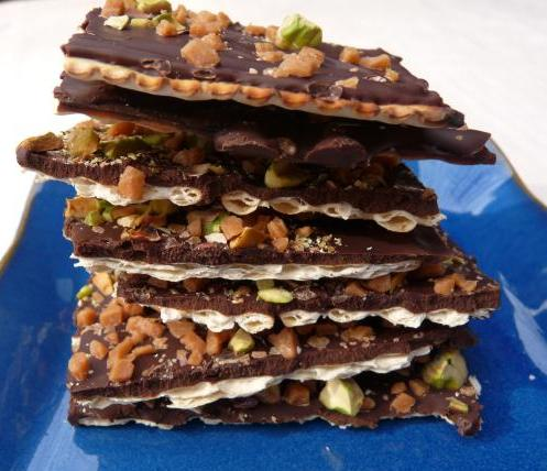 Radishes and Rhubarb: Toffee, Chocolate and Pistachio Bark