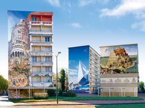 Visitez les murs peints dans tout le monde