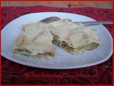 lasagnette di pane carasau con zucchine e pancetta