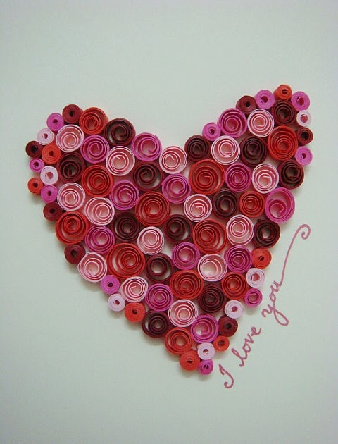 Azlina abdul quilled heart card for Quilling heart designs