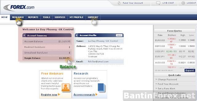 Hướng dẫn Rút tiền từ tài khoản môi giới IB ( Forex.com Uk )