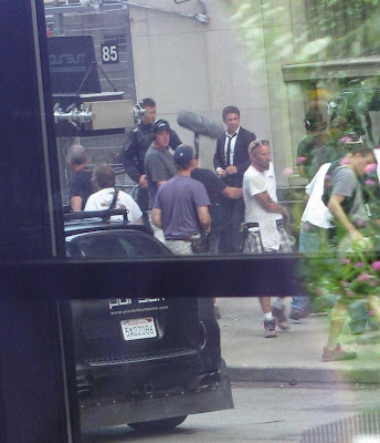 Shia Labeouf and Josh Duhamel Transformers 3 Filming Chicago