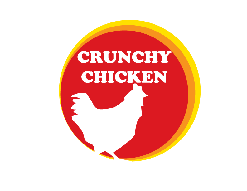 ... crunchy chicken we make really crunchy chicken the logo is made