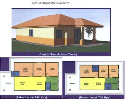 rumah mesra rakyat adalah berkonsepkan rumah sesebuah yang berkeluasan