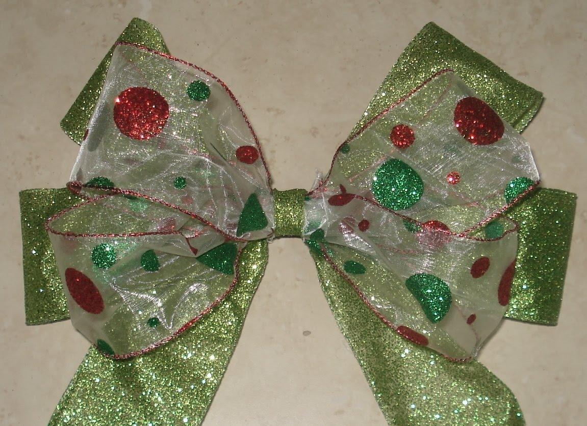 Ganchitos de tati lazos para el arbol de navidad - Lazos para arbol de navidad ...