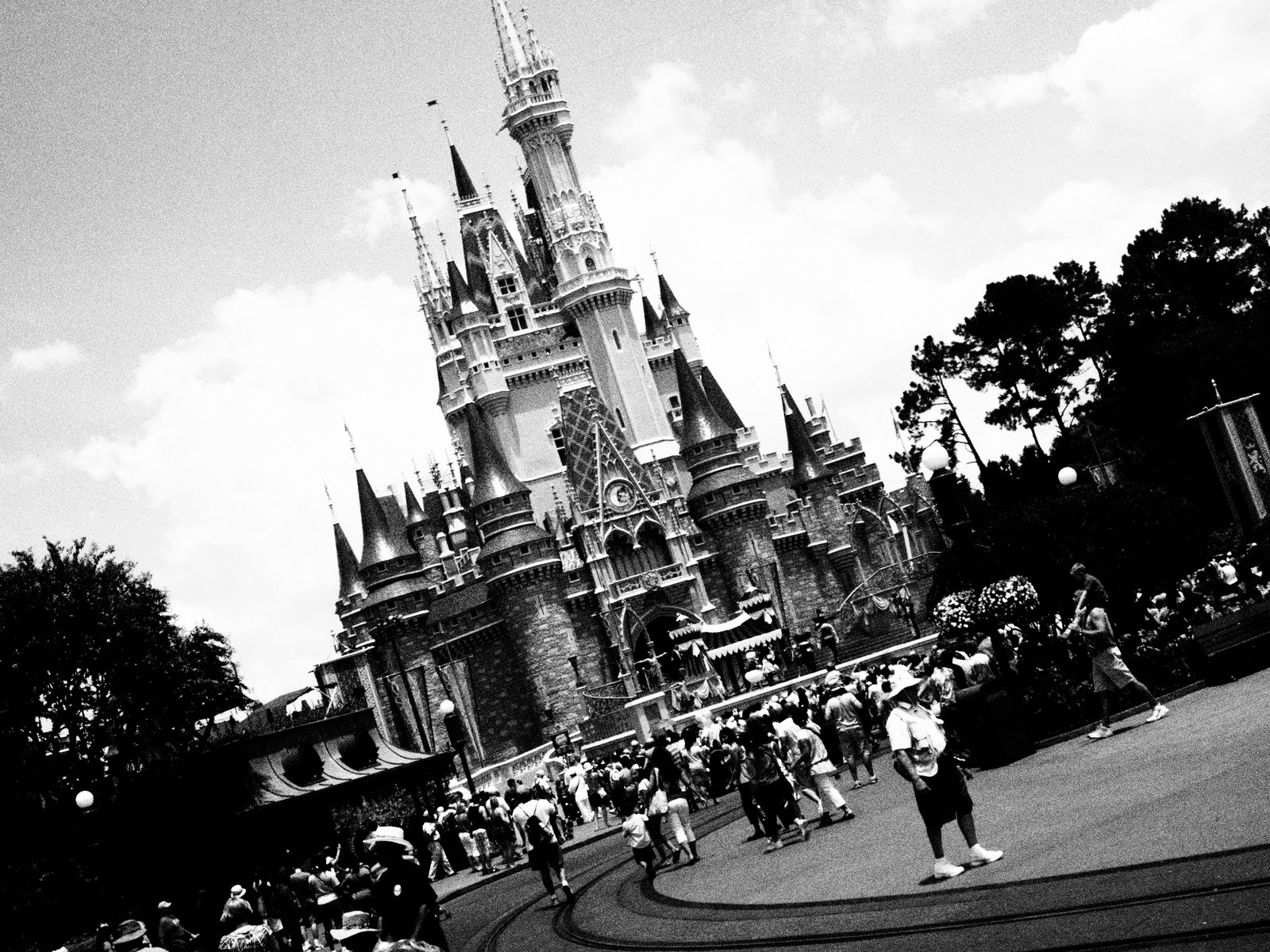 Cinderella s Castle at Magic KingdomDisney Castle Black And White