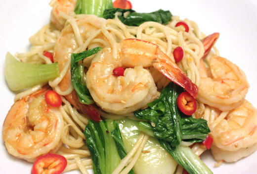 lisa is cooking: Stir Fried Bok Choy with Shrimp, Noodles, and Oyster ...