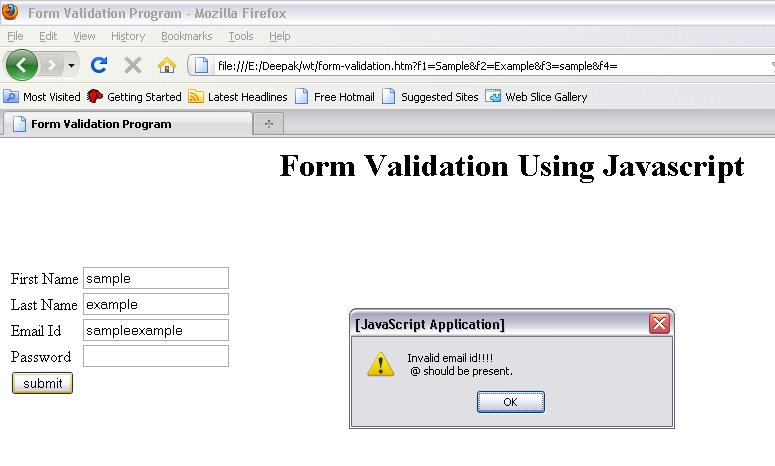 Form Validation Using Jquery Examples