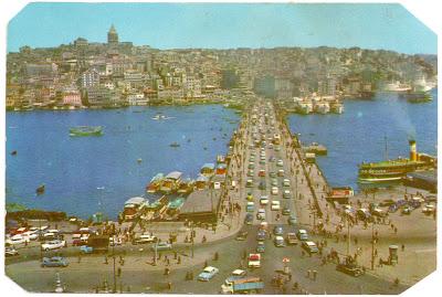 eski istanbul - galata köprüsü