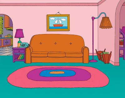 simpsonlar oturma odası