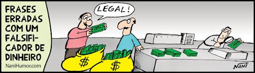 TIRAS: Frases erradas com um falsificador
