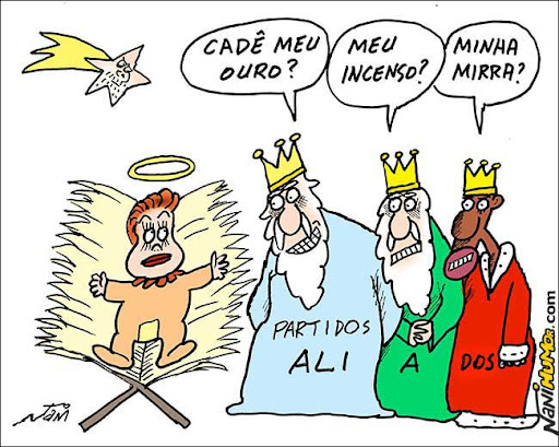Dilma e os aliados. Época de presentes
