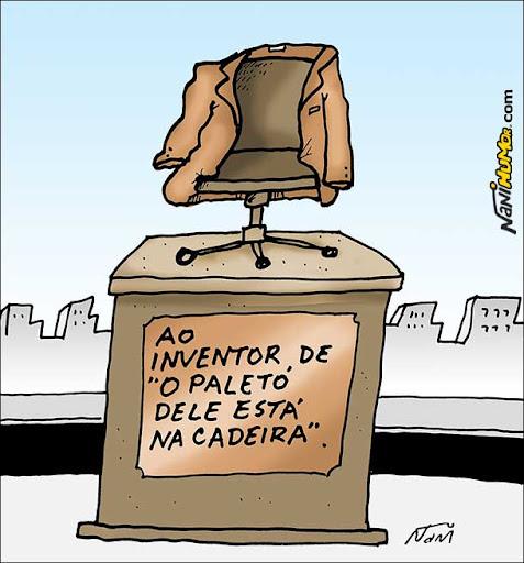 Monumentos aos grandes heróis da Pátria paletó na cadeira