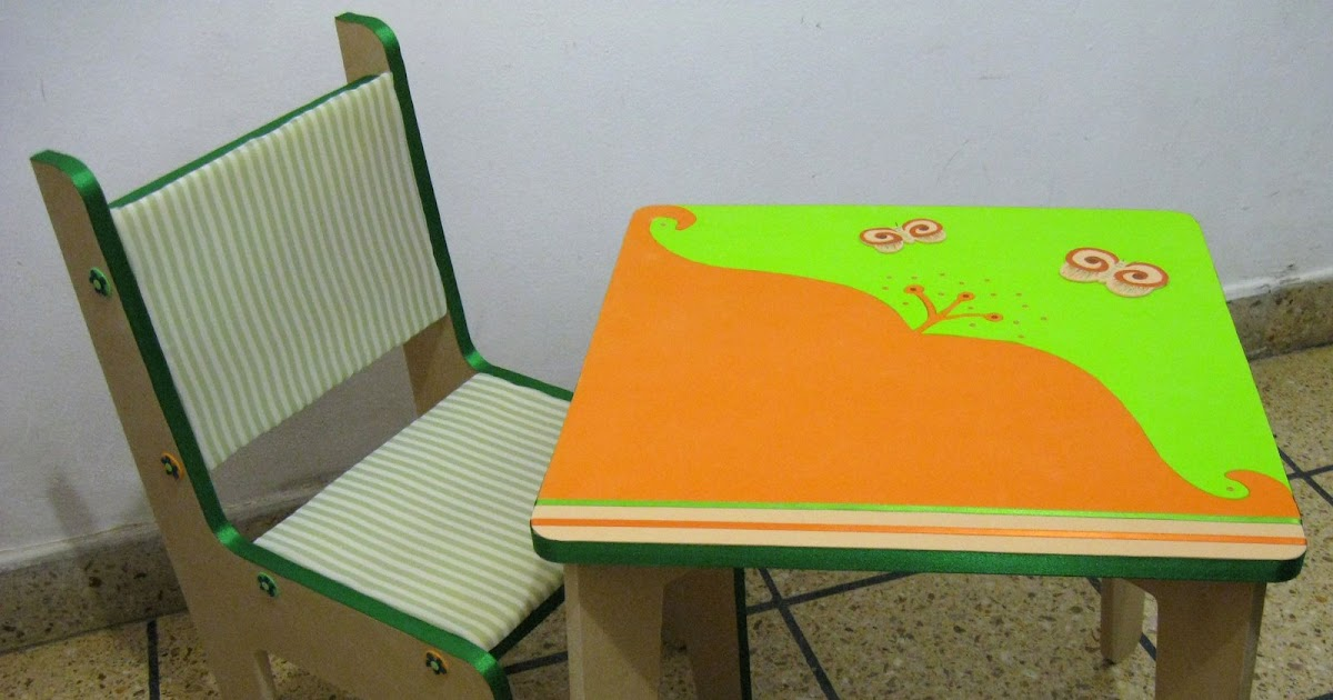 Accesorios infantiles con dise o mesita y sillita - Mesita con sillas infantiles ...