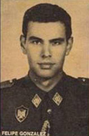 Felipe Gonzalez de jovenzuelo