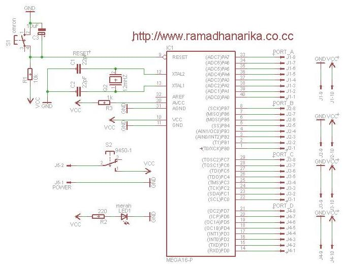 Sistem Minimum Atmega16