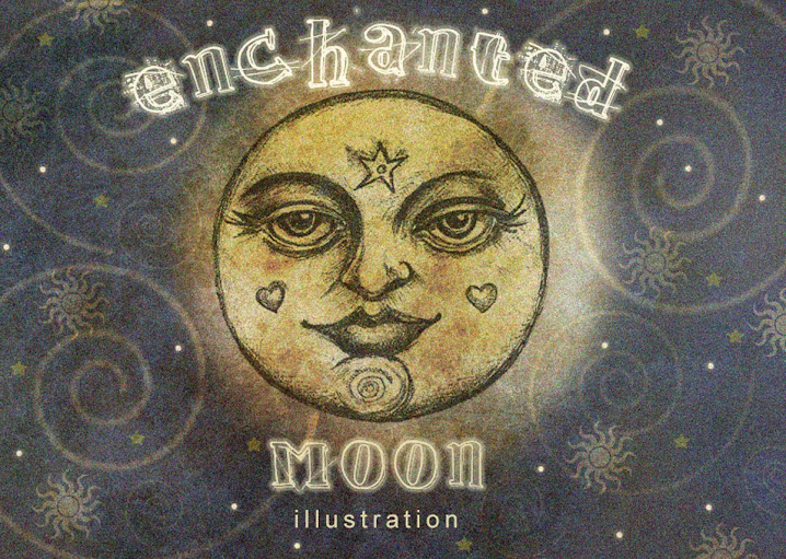 Enchanted Moon Illustration