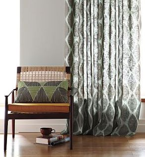 Ikat Pattern Curtains - Rooms
