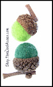 Faux Acorns ~ Handmade
