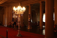 A visit to the Dolmabahce Palace begins at the Medhal Hall