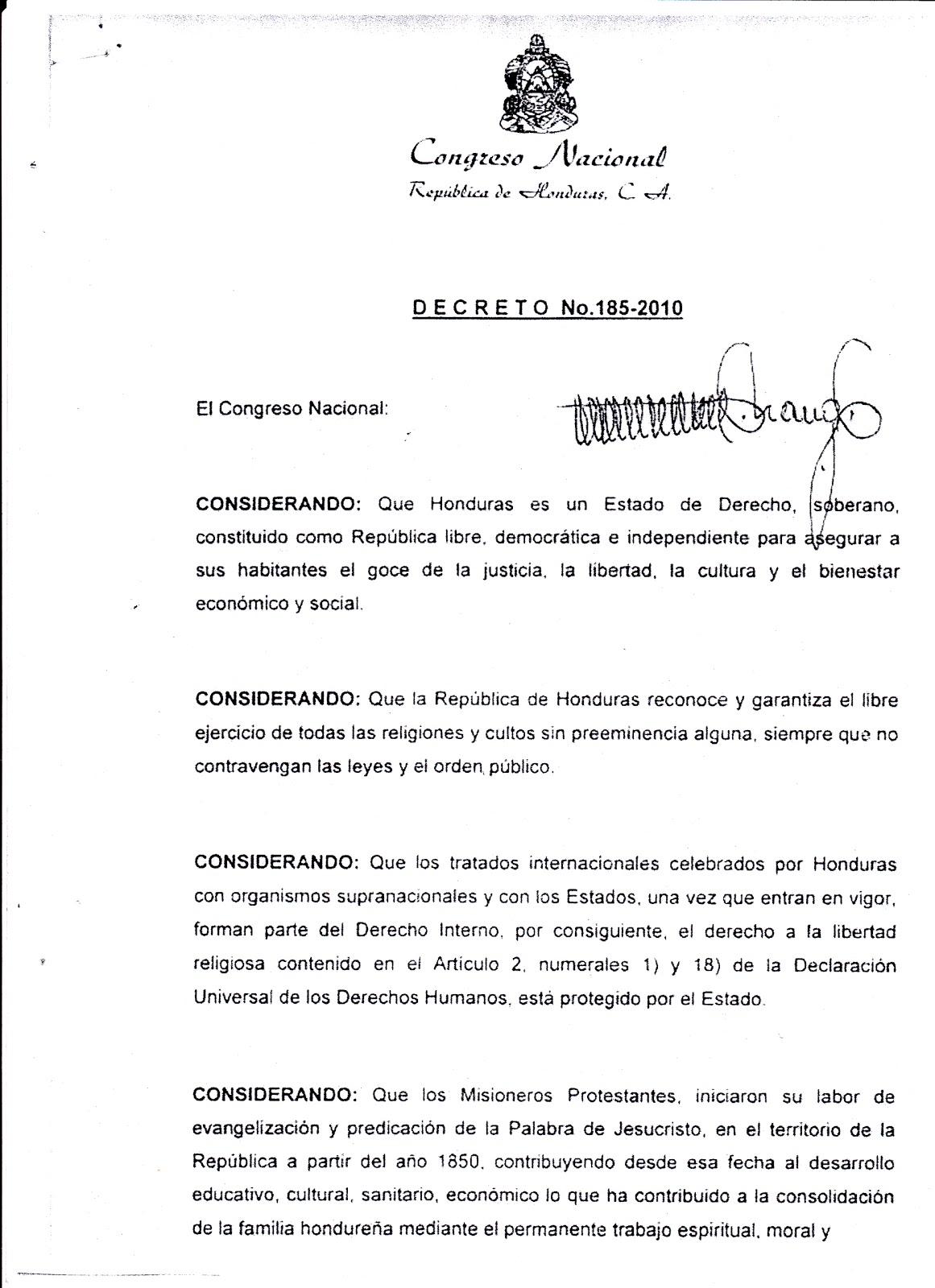 CENTRO DE AVIVAMIENTO INTERNACIONAL: LEY MARCO DE IGLESIAS ...