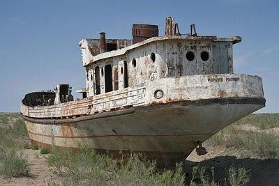 Aral Sea+ 08 787829 Gambar Laut Ke 4 Terbesar Dunia Yang Telah Hilang Tahun 2008