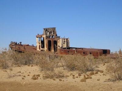 Aral Sea+ 04 785366 Gambar Laut Ke 4 Terbesar Dunia Yang Telah Hilang Tahun 2008