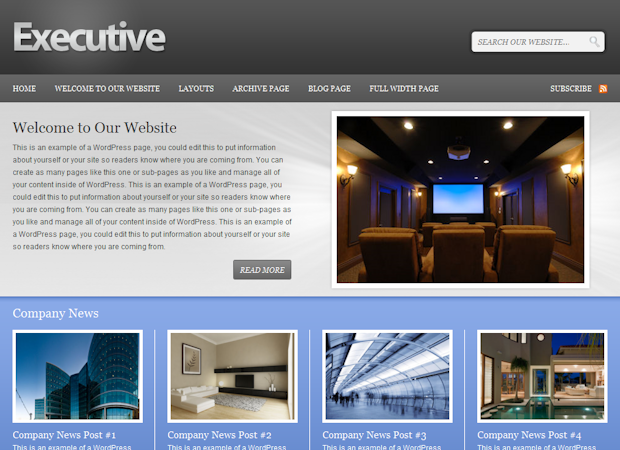 Studiopress Executive wordpress Theme