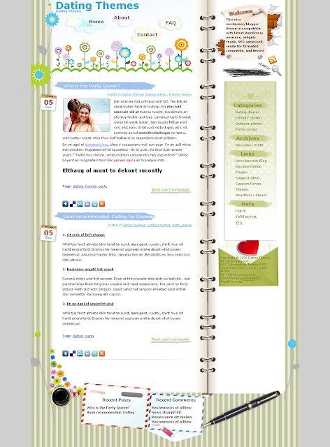 Florist dating wordpress theme free download.