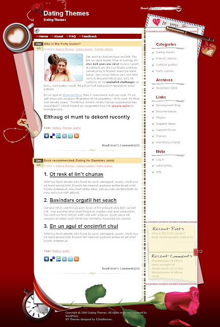 Love Sonnet dating wordpress theme free download.