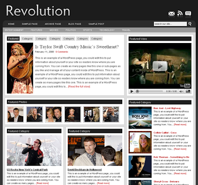 Revolution Pro Media Theme.