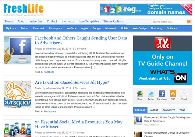 Freshlife magazine Wordpress Theme by ThemeJunkie Free Download.