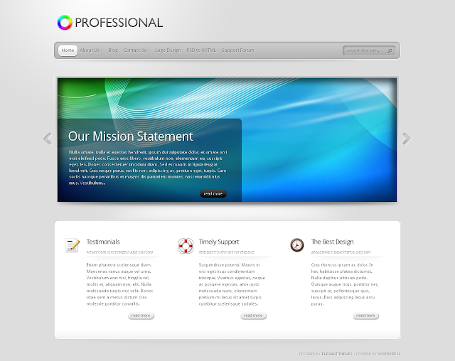 TheProfessional - Professional Wordpress Theme by ElegantThemes Free Download.