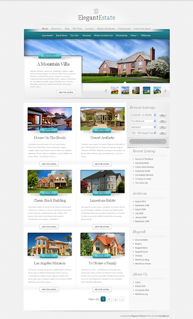 ElegantEstate - Real Estate Wordpress Theme Free Download by ElegantThemes.