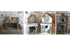 Weathered Wood Birdhouses & Feeders Made with Natural Vines & Moss