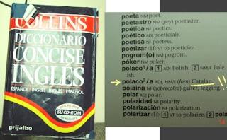 Polonesos i catalans, segons el Collins