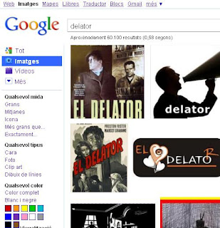 Delator, segons Google